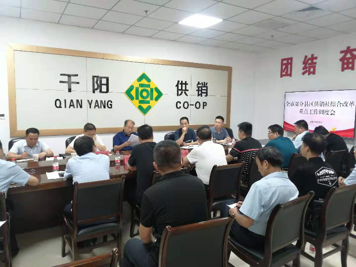 市供销社在千阳召开部分县区供销社深化综合改革重点工作调度会
